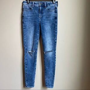 AE high rise jeggings size 4